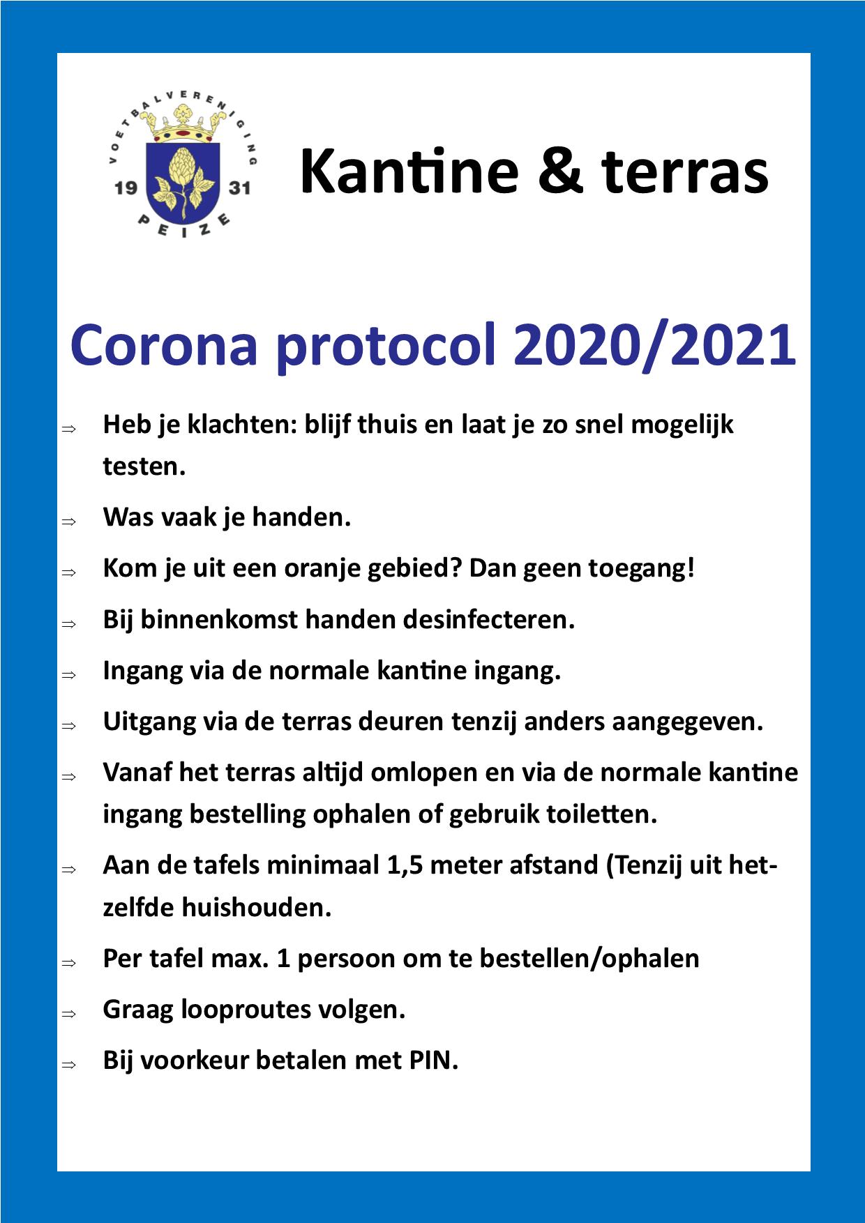 Corona richtlijnen vvpeize