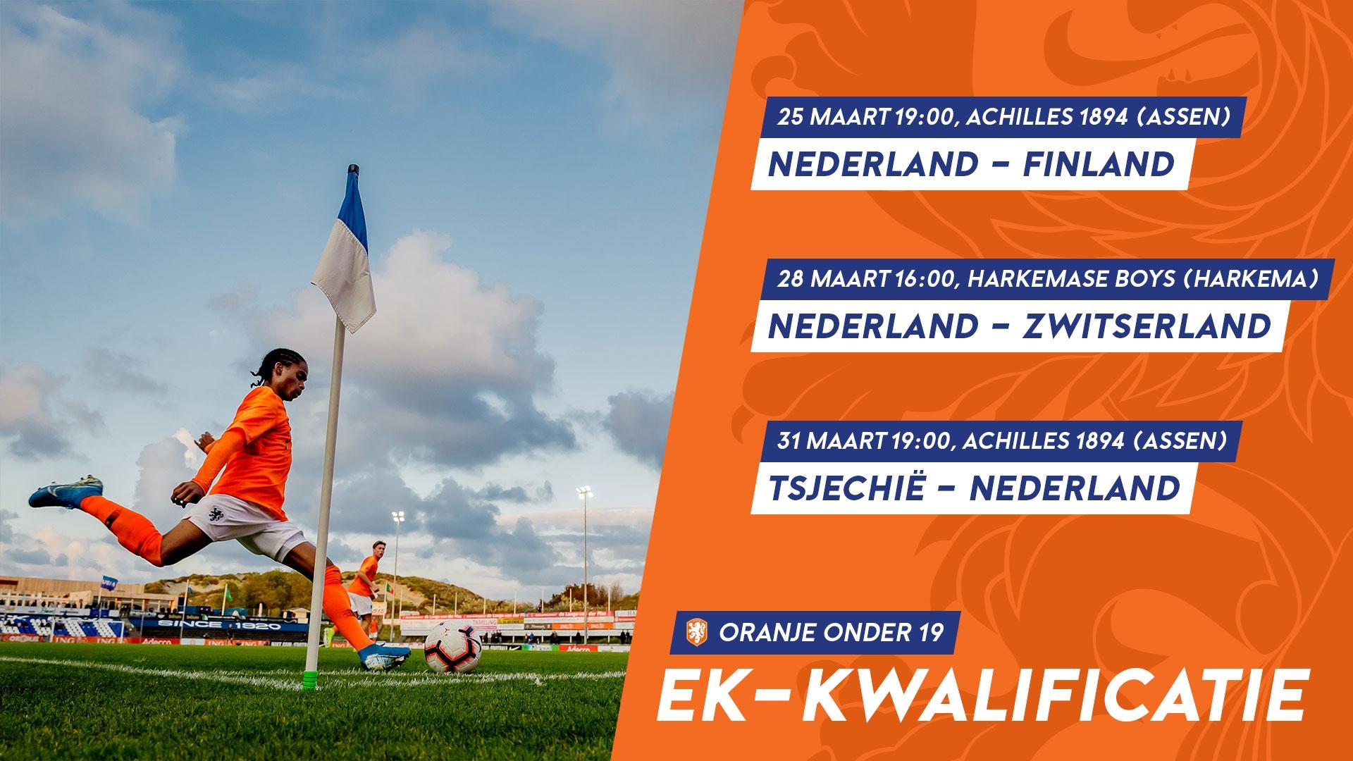 Oranje onder 19 in de regio!